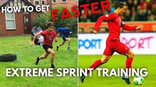 How to SPRINT Like RONALDO - Preseason training #1 World Cup Edition - Sprinting for football False9