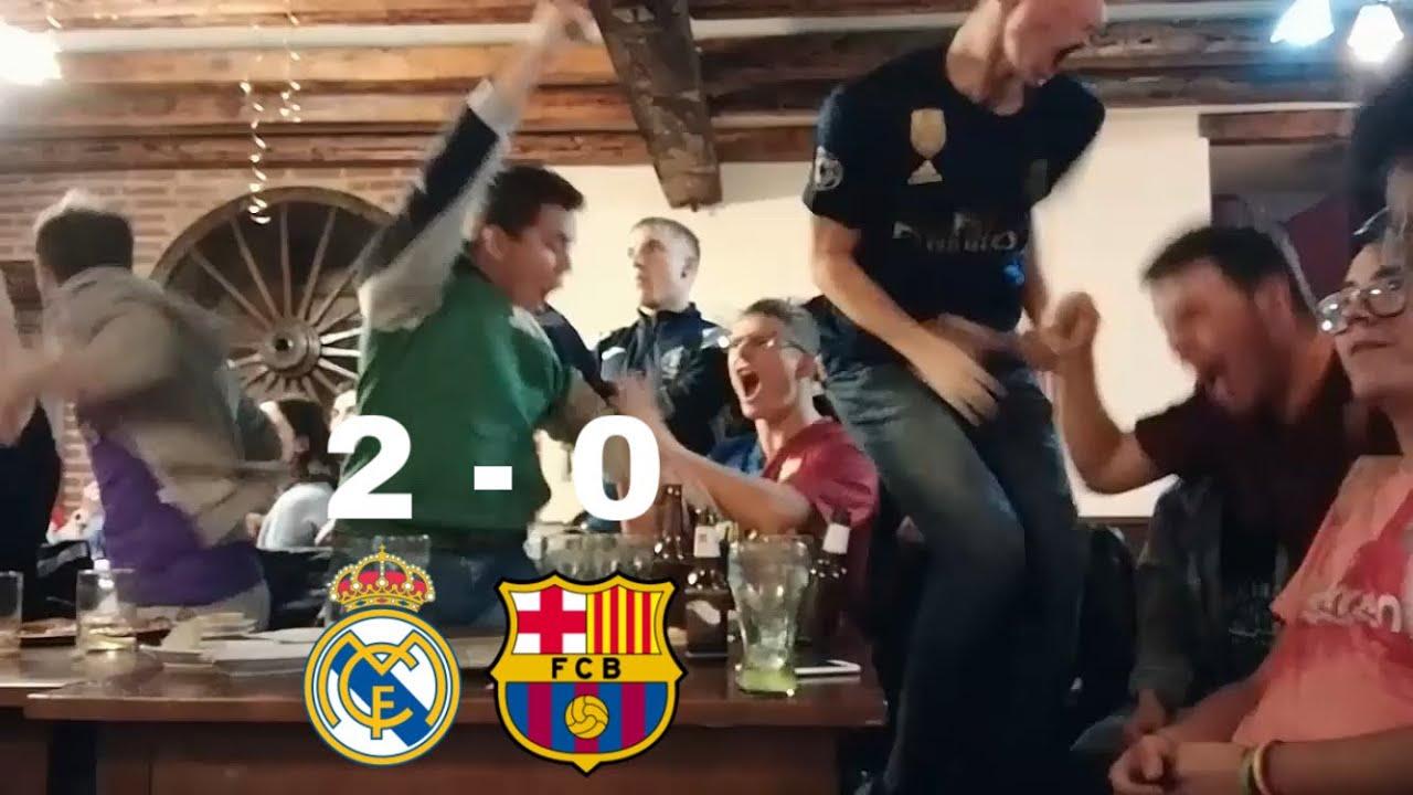Real Madrid v/s Barcelona 2-0 REACCIONES DE HINCHAS