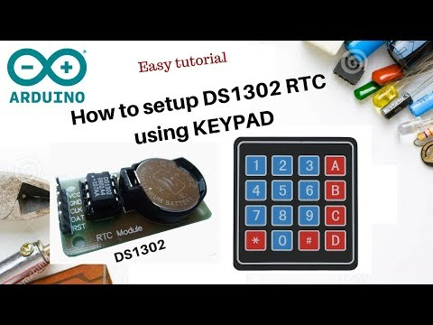 How to setup DS1302 RTC module with Keypad + Arduino + LCD – SURTR