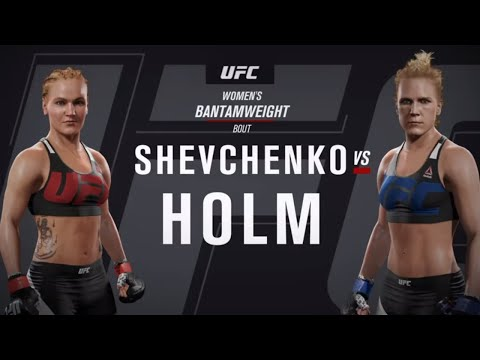 Шевченко Vs Холм ( Валентина Шевченко против Холли Холм ) UFC2 .