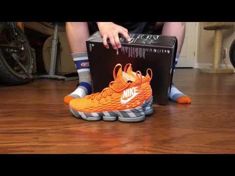 lebron-15-orange-box-on-foot!-(snkrs-draw)