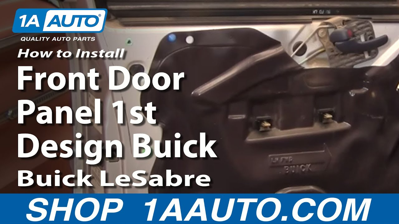 hight resolution of how to install remove front door panel 1st design buick lesabre 00 05 1aauto com