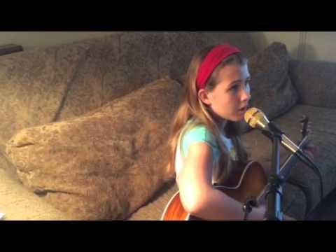 """Write Your Story"" Francesca Battistelli Accoustic Cover with lyrics - Molly Rae"