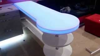 Акриловая ( из искусственного камня ) столешница  с внутренней подсветкой.(, 2014-11-21T09:20:18.000Z)