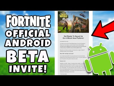 Official Fortnite ANDROID BETA Invite Email! - Fortnite Android BETA How To Download