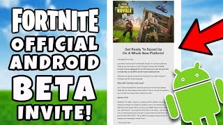 Officiel Fortnite ANDROID BETA InviteZ Email! - Fortnite Android BETA Comment télécharger