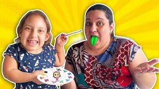Maria Clara em uma história engraçada para crianças do SORVETE que SUMIU - MC Divertida