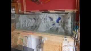 Aquarium Rückwand Bau 720 liter Tank