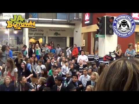 Poinsettia Elementary 5th Graders run biztown 2014 - YouTube