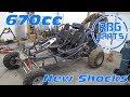 670cc Off Road Go Kart Gets New Shocks!
