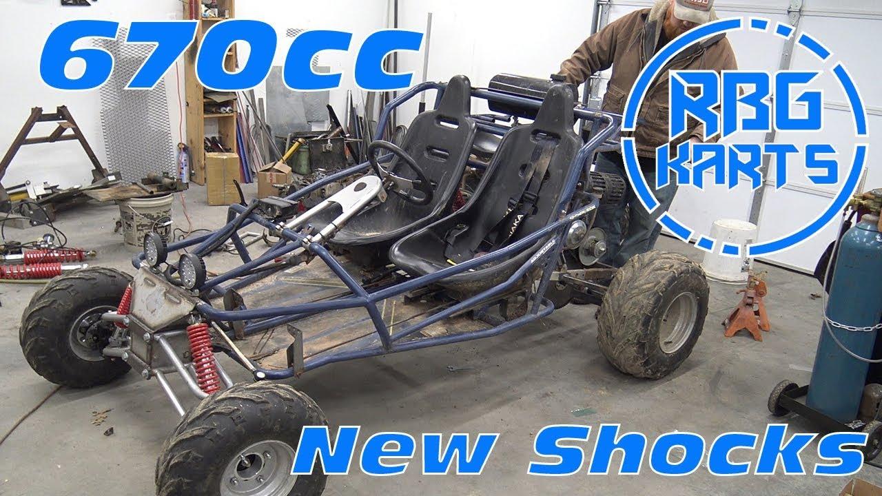 670cc Off Road Go Kart Gets New Shocks! - YouTube