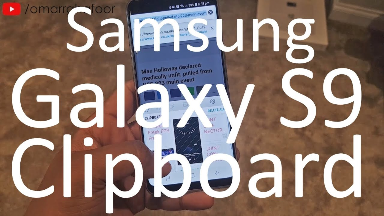 Samsung Galaxy S9 & S9 Plus features   Clipboard   Copy and Paste