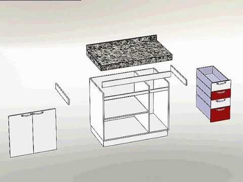 #474355 Armário de cozinha SolidWorks explosão  480x360 px Armario De Cozinha Em Dwg #2985 imagens