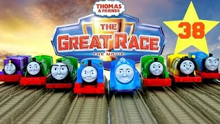THOMAS AND FRIENDS THE GREAT RACE #38 | TRACKMASTER SKY HIGH BRIDGE JUMP THOMAS Kids Play Toy Trains