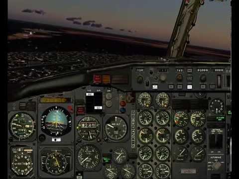 Cabina Boeing Tinmouse II 737-200 ADV ILS Aeroparque Jorge Newbery ID SABE