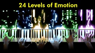 Classical Pianist Plays 1 Song In 24 Increasingly Complex Emotions | Jacob Collier Challenge