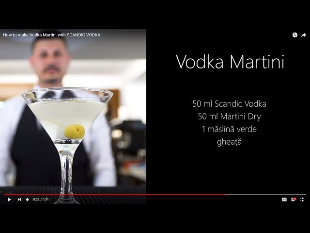 How to make Vodka Martini with SCANDIC VODKA