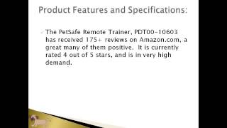 Pet Products Online | Petsafe Remote Trainer Pdt00-10603 Review Article | Dog Training Collar