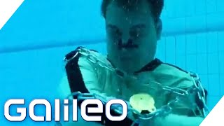 Entfesselungschallenge - Schafft Harro es, sich zu befreien? | Galileo | ProSieben