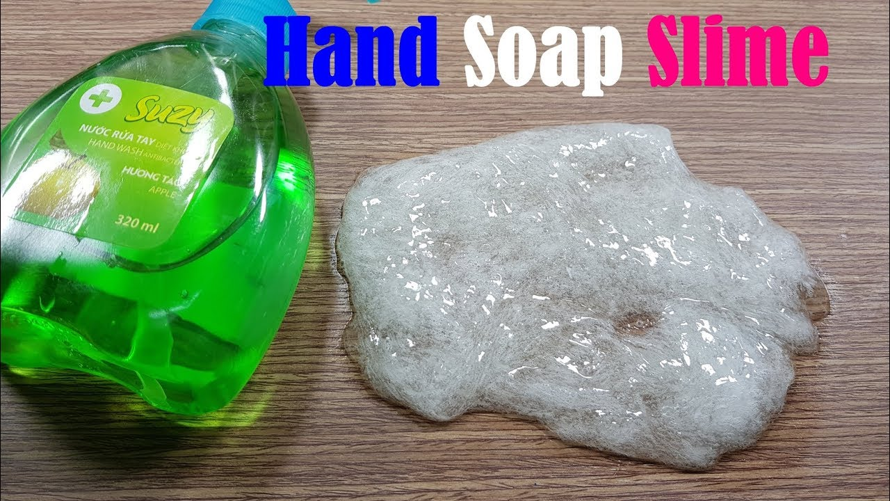 how to make slime with hand soap and sugar