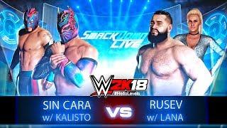 WWE 2K18 Sin Cara with Kalisto vs Rusev with Lana | WWE 2K18 Gameplay Match | WWE 2K18 Matches