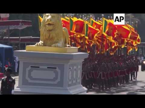 Military parade in Colombo for Independence Day