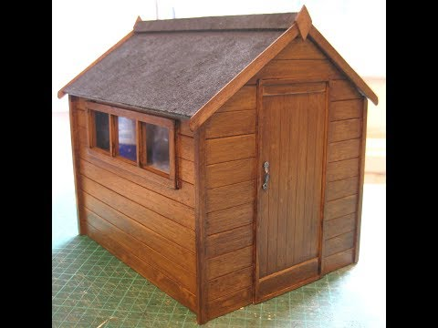 112th Scale Garden Shed Tutorial  Part One