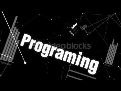 future programing algorithm innovation robot text animation artificial intelligence