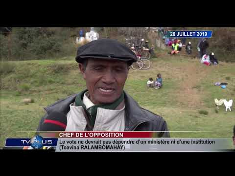 JOURNAL DU 20  JUILLET 2019 BY TV PLUS MADAGASCAR