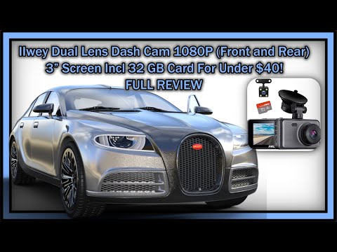 "IIwey Dual Lens Dash Cam 1080P (Front And Rear) 3"" Screen Incl 32 GB Card For Under $40!"