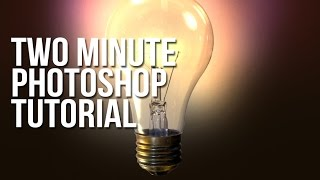 Two Minute Tutorial for Photoshop - Glowing Lightbulb
