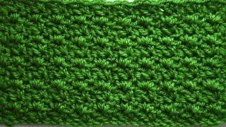 Плотный узор крючком Плетень. WATTLE crochet STITCH