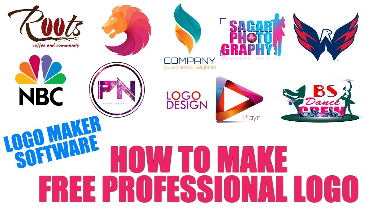 FREE PROFESSIONAL LOGO MAKER SOFTWARE || HOW TO MAKE FREE ...