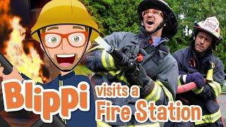 Blippi | Blippi Visits a Firetruck Station + MORE ! | Song for Kids | Educational Videos for Kids