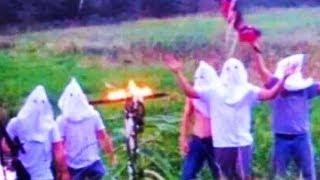 Football Team Burns Cross While Wearing KKK Hoods