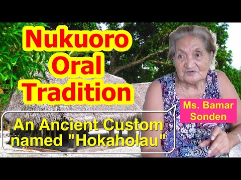Account of Ancient Customs of the Death, Nukuoro