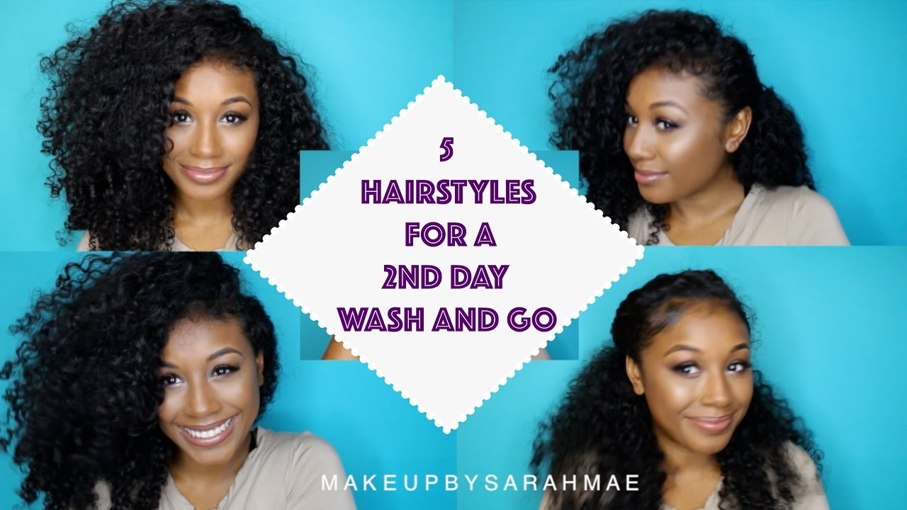5 Easy And Simple Hairstyles For A 2nd Day Wash And Go Curly