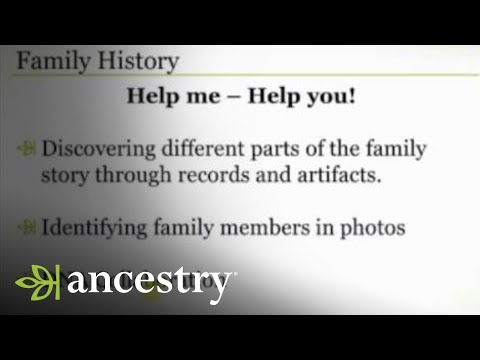It's Family History NOT Personal History