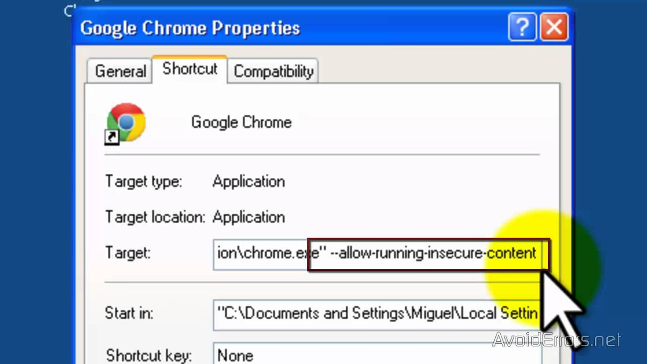 Disable Insecure Content Warning In Google Chrome Youtube