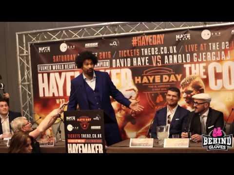 SHANNON BRIGGS GATECRASHES DAVID HAYE'S PRESS CONFERENCE!