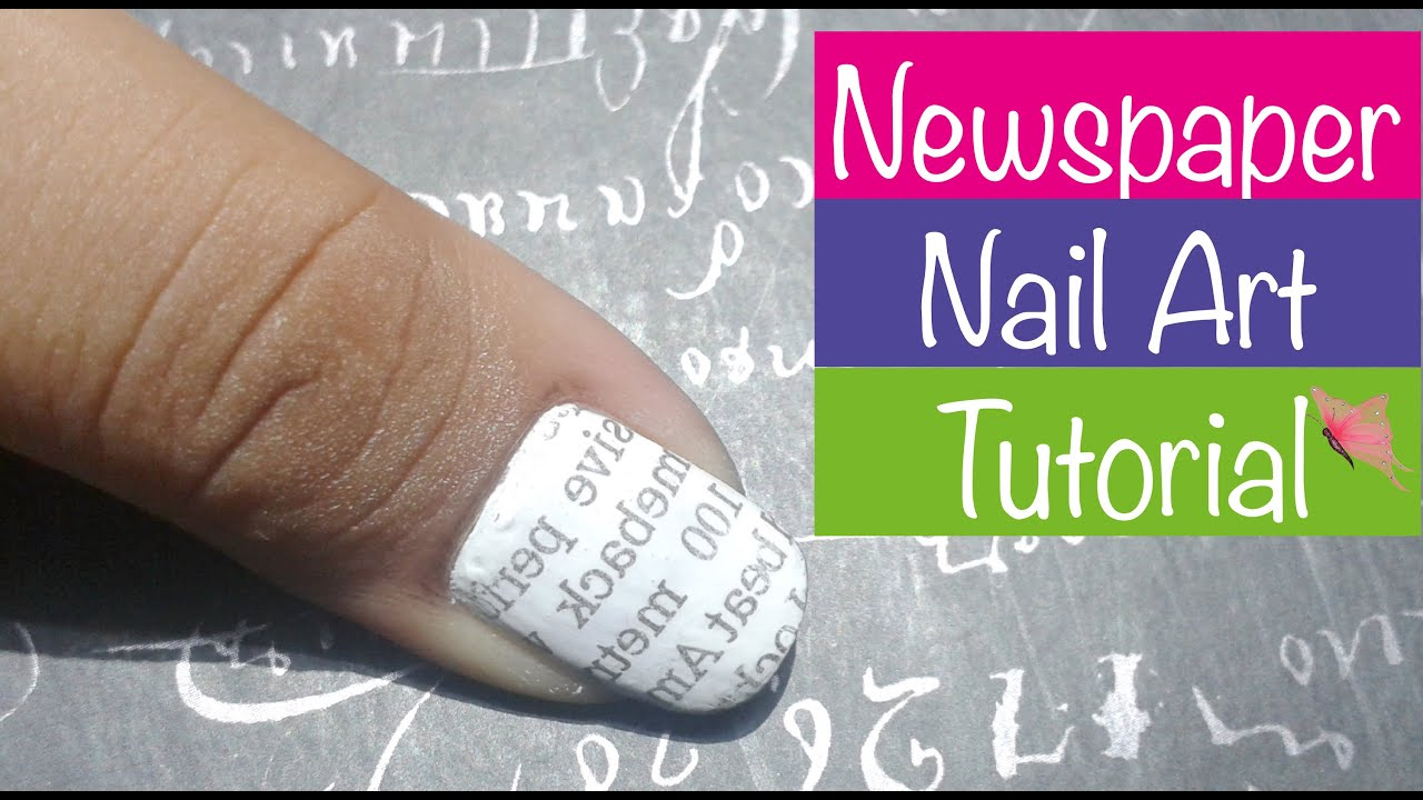 Simpleeasy newspaper nail art tutorialfor beginners prachi simpleeasy newspaper nail art tutorialfor beginners prachi gajjar youtube prinsesfo Choice Image