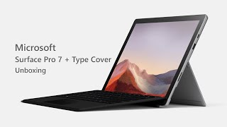 Microsoft Surface Pro 7 With Type Cover: Unboxing & Setup