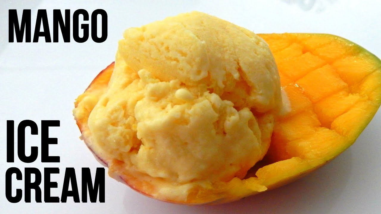 Homemade MANGO ICE CREAM (4 Ingridients!) - Inspire To Cook - YouTube