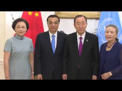 Chinese Premier Li Keqiang meets UN chief Ban Ki-moon