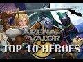 Arena of Valor - Best (Top 10)  Heroes