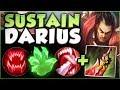LOW ELO STOMPER! SUSTAIN DARIUS IS ACTUALLY LEGIT! DARIUS SEASON 8 TOP GAMEPLAY! - League of Legends