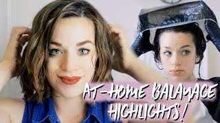 Balayage Highlights At Home (How To)   Madison Reed Light Works Tutorial   Short & Dark Hair