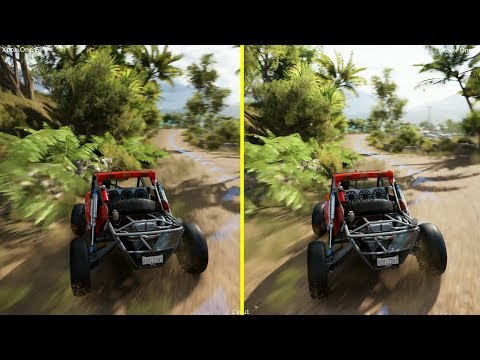 Forza Horizon 3 Xbox One S vs Xbox One X Enhanced Graphics Comparison