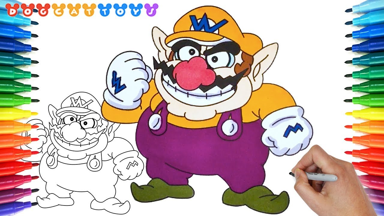 How to Draw Super Mario, Wario Coloring Pages #177 | Drawing ...