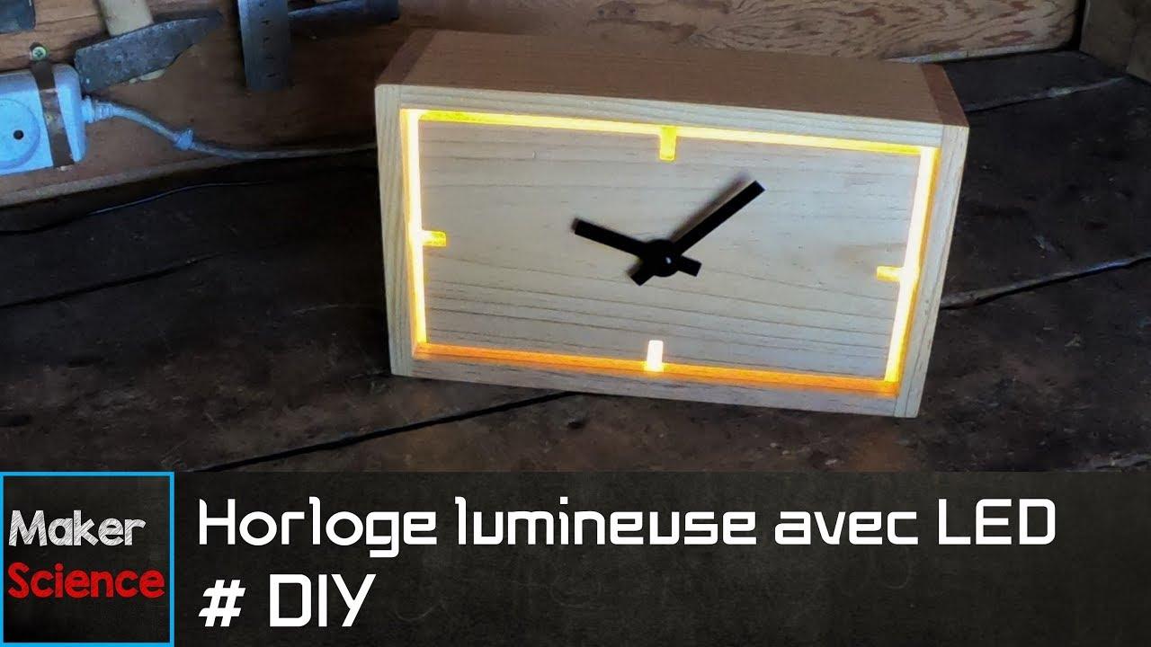 #DIY Horloge lumineuse avec LED